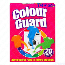 New 20 Pack Colour Guard Sheets Avoid Colour Runs In Mixed Laundry Washes UK ✔