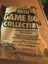 Burger King Gold Mini Game Boy Collectibles -- Factory Sealed-  Nintendo