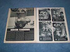 How-To Tech Info Vintage Article on Tearing Down the Norton Vertical Twin Engine