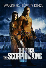 THE SCORPION KING (2002) ORIGINAL ADVANCE A MOVIE POSTER  -  ROLLED  -  2-SIDED