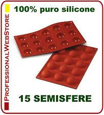 STAMPO SILICONE FORMA FORME STAMPI 15 SEMISFERE FORMINE CM 5,8 X 2,2 DOLCI