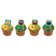 Sesame Street Blocks Elmo Big Bird cupcake rings (24) party favor cake topper