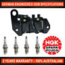 4x Genuine NGK Spark Plugs & 1x Ignition Coil for Hyundai Accent X3 Excel X3