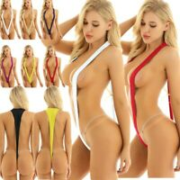 Sexy Women's One Piece Micro Bikini Thong Slingshot Monokini Beachwear Swimwear