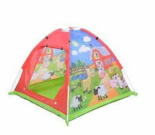 Vinsani Children Play Tent Kids Farm Animals Yard Outdoor Indoor Role Play House