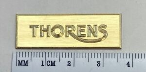 Thorens Turntable  Logo Dust Cover Badge Solid Brass Engraved 124 125 160
