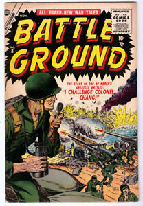 BATTLE GROUND #8 in FN/VF condition a 1955 Atlas Golden Age WAR comic