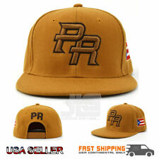 Puerto Rico Snap back Hat Flag 3D PR Flat Bill Rico Timber Color Acrylic Cap NEW