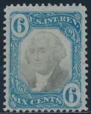 #R108 6¢ 2Nd Issue Documentary Stamp Vf+ Unused Cv $250 Br5185