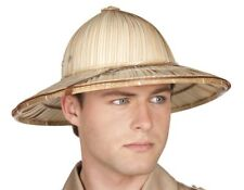 Straw Safari Pith Deluxe Explorer Hunter Helmet Hat Fancy Dress Adult 40s