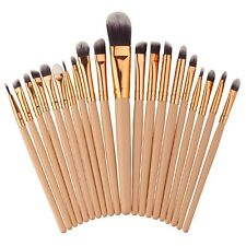 20PCS MakeUp Foundation Eyebrow Eyeliner Eye Shadow Blush Cosmetic Brushes
