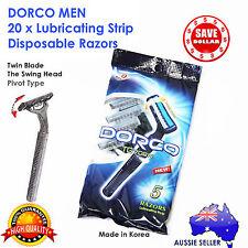 20x Dorco Mens Disposable Razors Blades Shaving Shaver Pivot Swing Bulk Twin