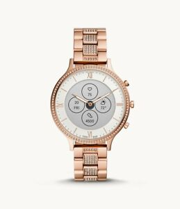 Fossil Women's HR Charter Rose Gold Stainless Steel Hybrid SmartWatch FTW7012