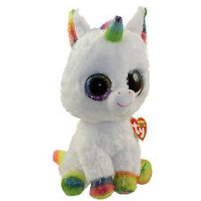 "Ty Beanie Boos 6"" Pixy the Unicorn Stuffed Animal Plush NWMT's New w/ Heart Tags"