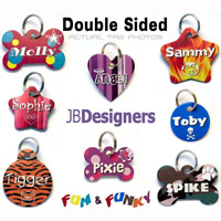 Pet Tag Dog Cat Puppy ID Tags Pretty Aluminium personalised customised Pettags