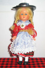 "Vintage 6"" Cultural Austrian/Swiss Doll~Full Costume~O/C Eyes~Blonde Braids~Mint"