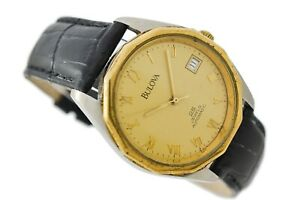 Vintage Bulova 25 Jewels Automatic Stainless Steel Gents Watch 1443