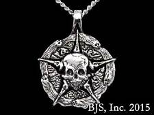 Silver Court of the Dead Underworld United Medallion, Sideshow, Skull Necklace