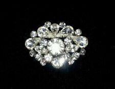 Vintage White  Czech Crystal Brooch/Pin