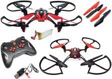 DRONE QUADRICOTTERO AIRCRAFT HIMOTO RADIO 2.4GHZ FLY 360° LIPO 3,7V 500 MAh 6052