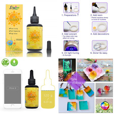 UV Resin 120G TRANSPARENT Ultraviolet Curing Epoxy For DIY Jewelry Making Craft