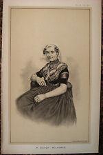 MILCHMÄDCHEN Niederlande Nederland Bauern. Originale Lithographie 1886