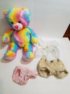 Build A Bear Rainbow Outfit Hello Kitty Umderwear Plush Stuff Animal Toy