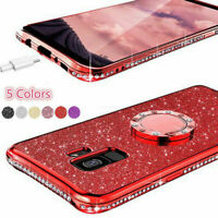 For Samsung Galaxy Note 20 Ultra 5G Bling Diamond Ring Holder Soft Cover Case