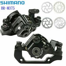 Shimano BR-M375 Bike Mechanical Disc Brakes Caliper Front & Rear Calipers Black