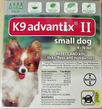 K9 Advantix II Flea Tick Medicine Small Size Dog 4 Month Supply Pack K-9 4-10