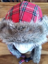 £4 TONIGHT'S SPECIAL OFFER FAUX FUR WARMER FLAPS IN A LOVELY RED COLOR ,UNISEX