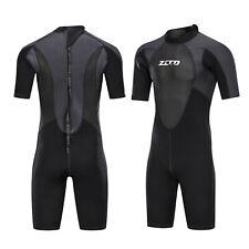Men's Wetsuit Neoprene Shorty Back Zip Suit Surf Scuba Snorkeling Dive Suit