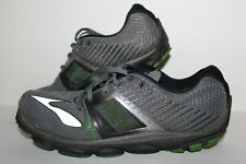 Brooks Pure Cadence 4 Running Shoes, #11018210039, Gray/Blk/Green, Mens US 10