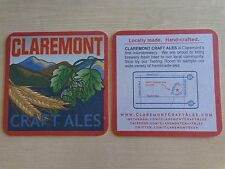 Beer Coaster ~ CLAREMONT Craft Ales ~ CALIFORNIA ** Add'l Caps Only $0.25 S&H