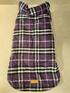 Kuoser Cozy Waterproof Windproof Reversible British Style Plaid Dog Vest (LARGE)