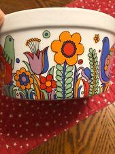 Royal Crown Porcelain Paradise Design Ovenware Souffle Dish #33 693 Casserole MC