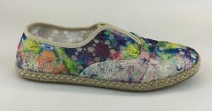 TOMS Womens Multicolor Fabric Loafers Sz US 8.5