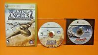 Blazing Angels 2 WWII + Over G Fighters XBOX 360 Games Rare Lot Jets War