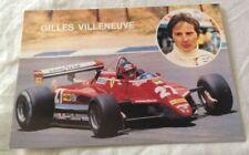 AUTOMOBILISMO FORMULA UNO Cartolina Gilles Villeneuve n. 1