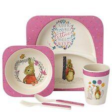 Bols, assiettes et tasses en bambou pour enfant