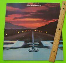 1978 FORD THUNDERBIRD BIG DLX (prestige?) COLOR CATALOG Brochure XLNT+
