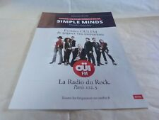 SIMPLE MINDS - Publicité de magazine / Advert !!! SESSION LIVE !!!