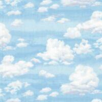 Landscape Cloud Sky Blue 100% Cotton Makower Fabric Patchwork Quilting  FQ