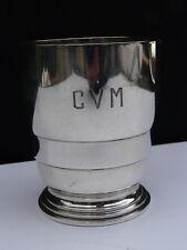 timbale  argent poinçon minerve orfevre e puiforcat initiales CVM