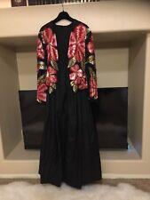 Naeem Khan Riazee Sequined Multicolor Beaded Silk Full Skirt Ball Gown Size 10