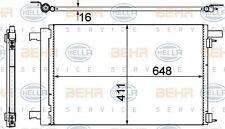 8FC 351 319-461 HELLA Condenser  air conditioning