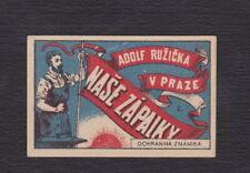 Ancienne  étiquette allumettes Tchécoslovaquie BN123039 Homme