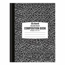 """TOP26252R Oxford® Composition Book, 10"""" x 7-7/8"""", College Rule, Black Marble Cov"""