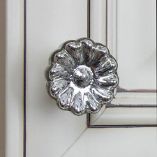"231016-M - GlideRite Hardware 1-5/8"" Mercury Glass Round India Cabinet Knob"