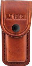 Schrade Old Timer LS2 Large Full Grain Leather Folding Pocket knife Belt Pouch
